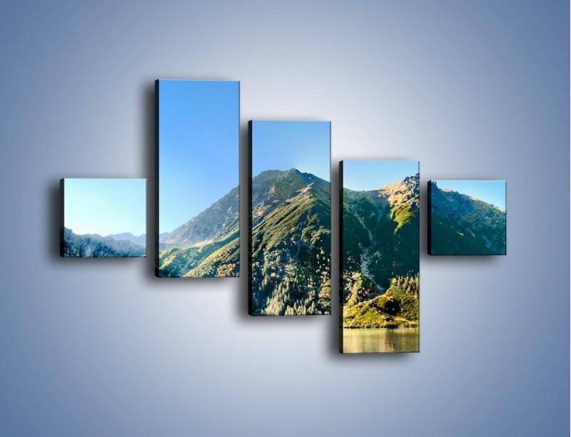Obraz na płótnie – Chłodny klimat górski – pięcioczęściowy KN844W3