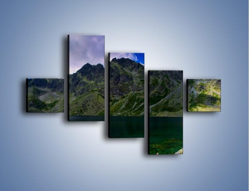 Obraz na płótnie – Horyzont górskich szczytów – pięcioczęściowy KN856W3