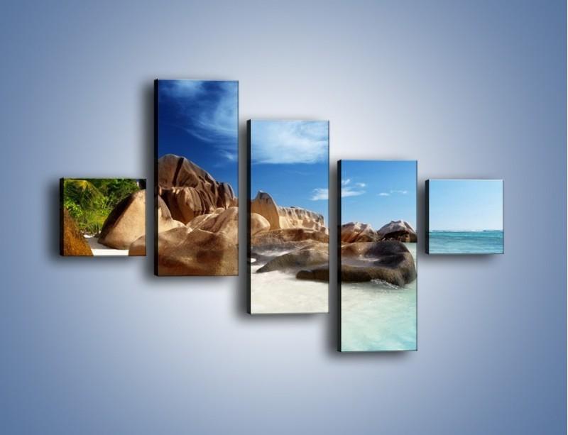 Obraz na płótnie – Niewyobrażalny błękit oceanu – pięcioczęściowy KN986W3