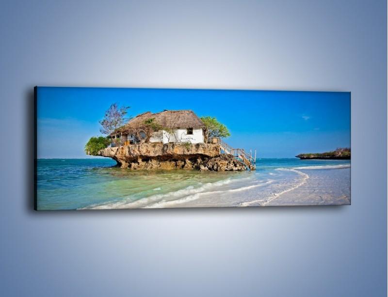 Obraz na płótnie – Dom na skarpie – jednoczęściowy panoramiczny KN1150A