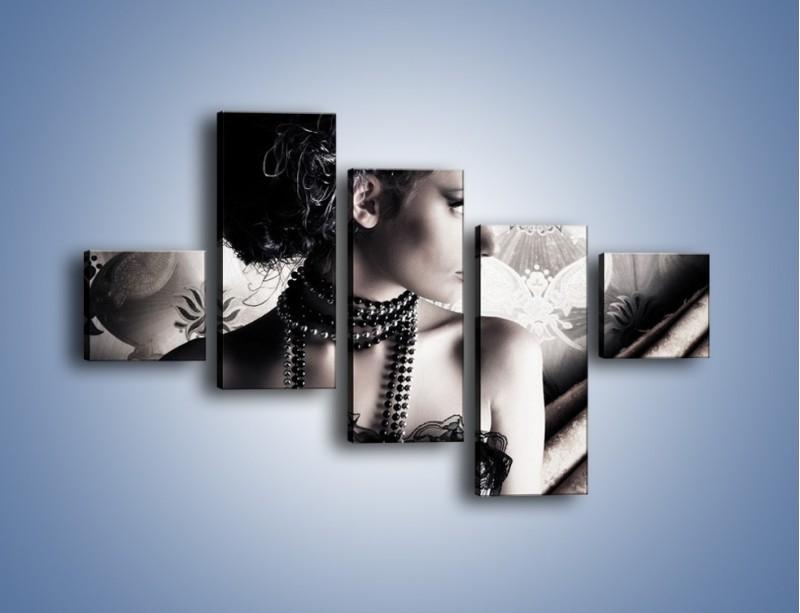 Obraz na płótnie – Czarny kobiecy charakter – pięcioczęściowy L095W3