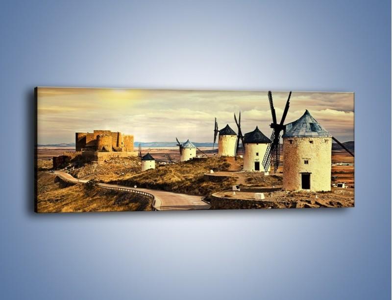 Obraz na płótnie – Młyny przy drodze do zamku – jednoczęściowy panoramiczny KN1154A