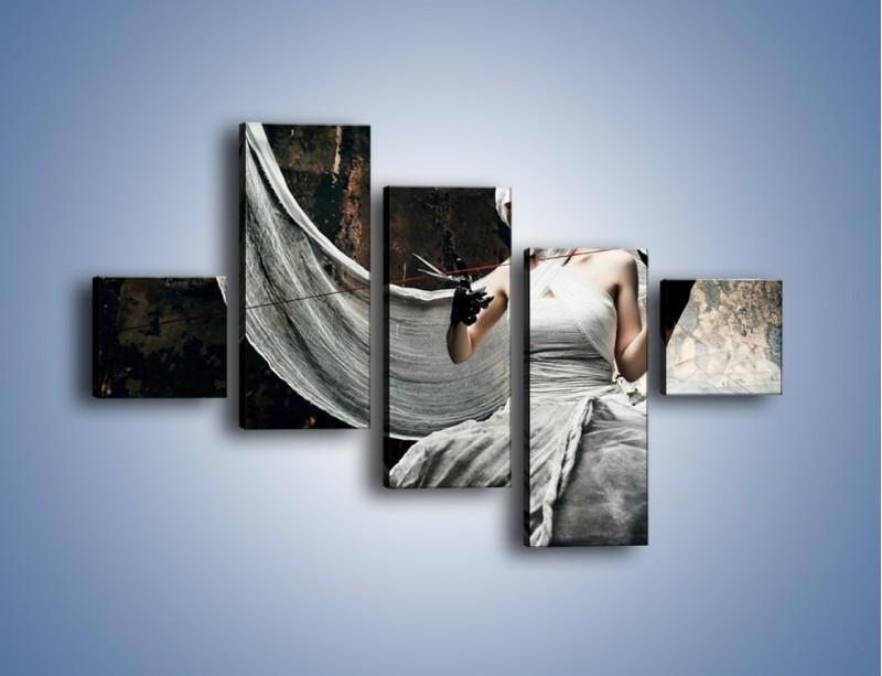 Obraz na płótnie – Dama w białych bandażach – pięcioczęściowy L278W3