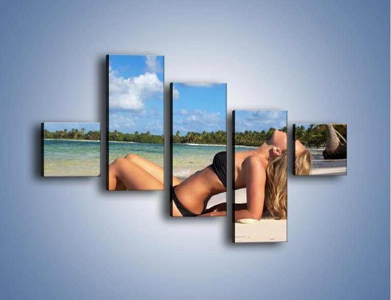 Obraz na płótnie – Czas rajskich plaży – pięcioczęściowy L316W3