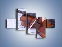 Obraz na płótnie – Melodia grana na skrzypcach – pięcioczęściowy O003W3