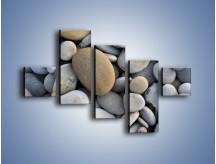 Obraz na płótnie – Kamienie duże i małe – pięcioczęściowy O006W3