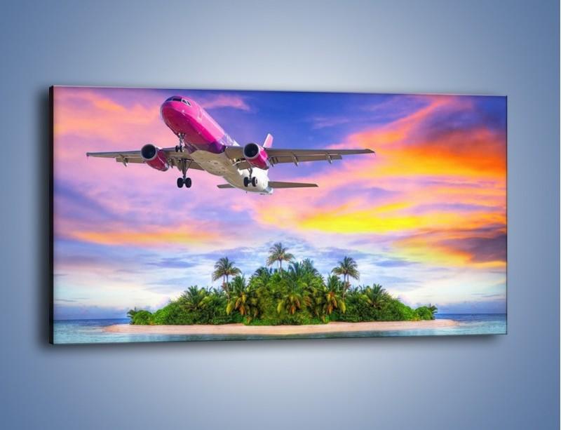 Obraz na płótnie – Powrót z bajkowych wakacji – jednoczęściowy panoramiczny KN1157A