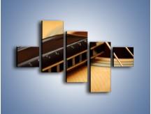 Obraz na płótnie – Instrumenty z drewna – pięcioczęściowy O108W3