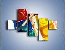 Obraz na płótnie – Kolorowy świat malowany farbami – pięcioczęściowy O116W3
