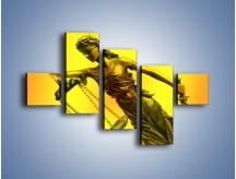 Obraz na płótnie – Figurka ważna w świecie prawa – pięcioczęściowy O164W3