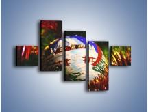 Obraz na płótnie – Bombka ręcznie malowana – pięcioczęściowy O168W3