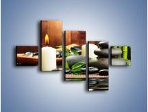 Obraz na płótnie – Masaż przy świecach – pięcioczęściowy O176W3