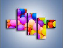Obraz na płótnie – Basen z kolorowymi piłeczkami – pięcioczęściowy O208W3