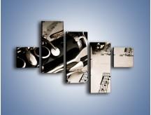 Obraz na płótnie – Egzamin z muzyki – pięcioczęściowy O216W3