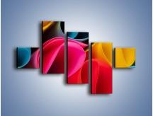 Obraz na płótnie – Kolorowe rulony – pięcioczęściowy O217W3
