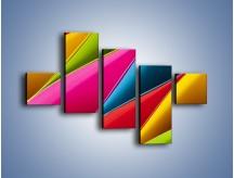 Obraz na płótnie – Idealna kolorowa kompozycja – pięcioczęściowy O219W3