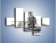 Obraz na płótnie – Budda wśród szarości – pięcioczęściowy O220W3