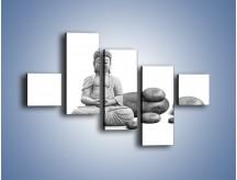 Obraz na płótnie – Budda wśród kamieni – pięcioczęściowy O229W3