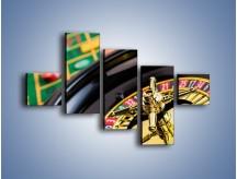 Obraz na płótnie – Czas drogocenny w kasynie – pięcioczęściowy O238W3