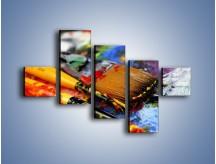 Obraz na płótnie – Kolory ze sobą zmieszane – pięcioczęściowy O251W3