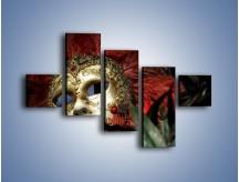 Obraz na płótnie – Maska pełna tajemnicy – pięcioczęściowy O252W3