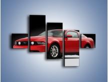 Obraz na płótnie – Czerwony Ford Mustang GT – pięcioczęściowy TM052W3
