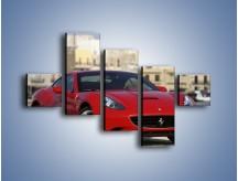Obraz na płótnie – Czerwone Ferrari California – pięcioczęściowy TM057W3