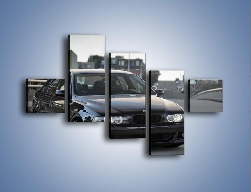 Obraz na płótnie – Czarne BMW E39 M5 – pięcioczęściowy TM072W3