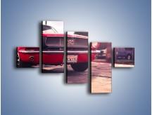 Obraz na płótnie – Czerwony Ford Mustang – pięcioczęściowy TM087W3