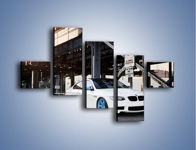 Obraz na płótnie – BMW E92 M3 Coupe pod starym mostem – pięcioczęściowy TM088W3