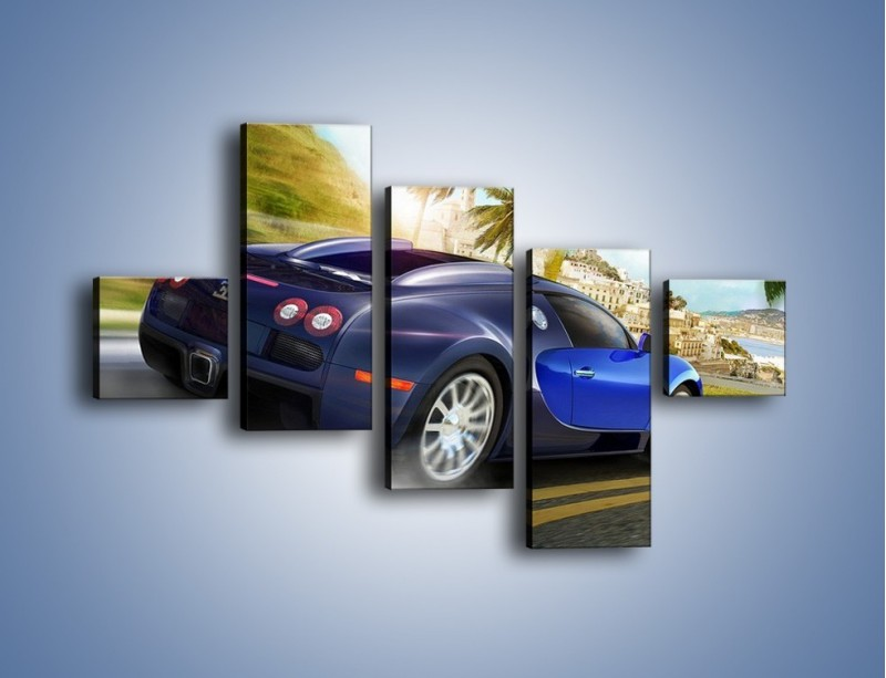 Obraz na płótnie – Bugatti Veyron – pięcioczęściowy TM123W3