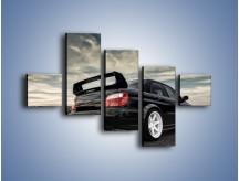 Obraz na płótnie – Czarne Subaru Impreza WRX Sti – pięcioczęściowy TM133W3