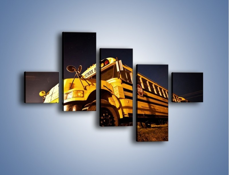 Obraz na płótnie – Amerykański School Bus – pięcioczęściowy TM146W3