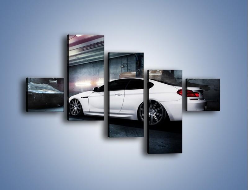Obraz na płótnie – BMW M6 F13 w garażu – pięcioczęściowy TM165W3