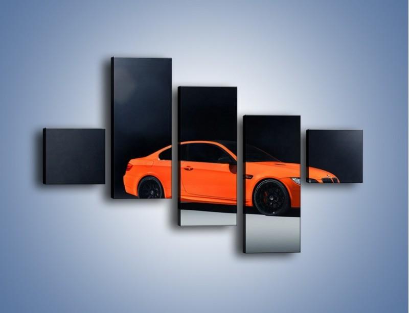 Obraz na płótnie – BMW M3 E92 Coupe Orange – pięcioczęściowy TM168W3