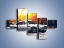 Obraz na płótnie – Aston Martin DB5 – pięcioczęściowy TM208W3