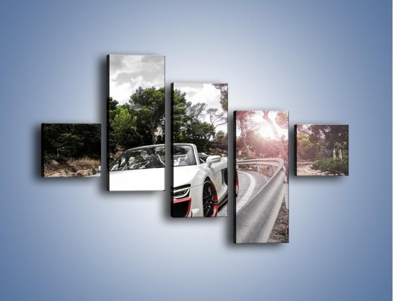 Obraz na płótnie – Audi R8 V10 Spyder – pięcioczęściowy TM209W3