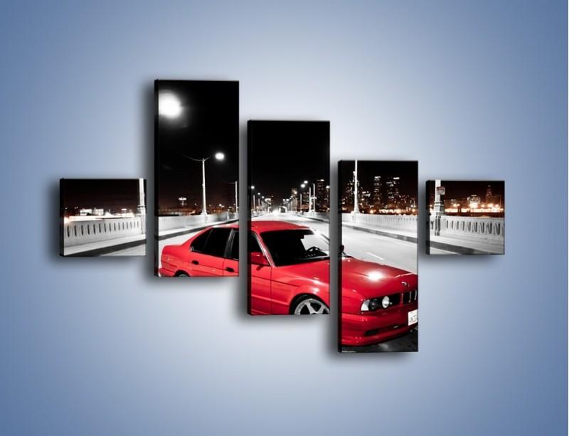 Obraz na płótnie – BMW 5 E34 na moście – pięcioczęściowy TM227W3