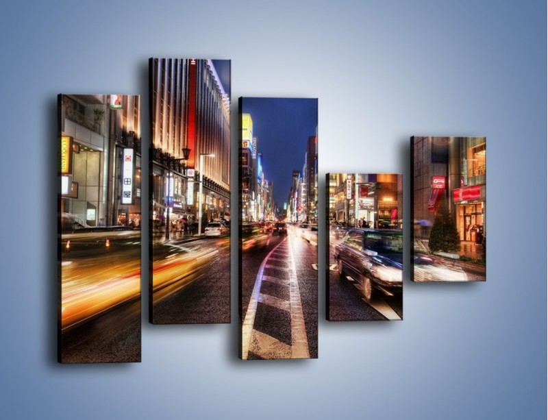 Obraz na płótnie – Tokyo w ruchu – pięcioczęściowy AM015W4
