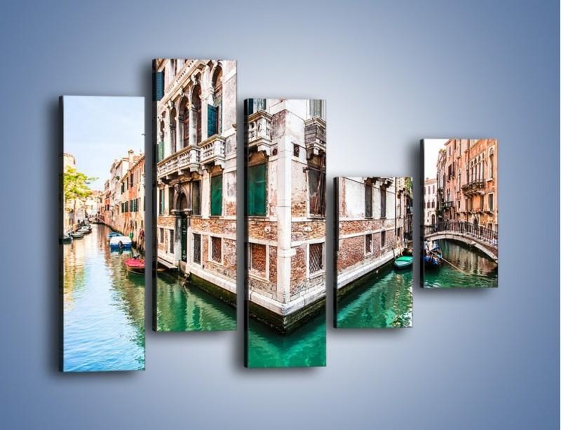 Obraz na płótnie – Skrzyżowanie wodne w Wenecji – pięcioczęściowy AM081W4