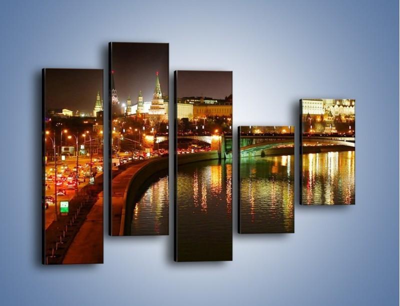 Obraz na płótnie – Moskwa nocą – pięcioczęściowy AM118W4