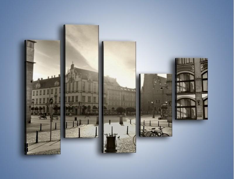 Obraz na płótnie – Rynek Starego Miasta – pięcioczęściowy AM136W4