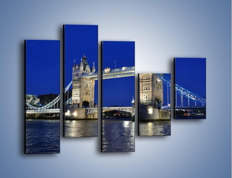 Obraz na płótnie – Tower Bridge nocą – pięcioczęściowy AM145W4