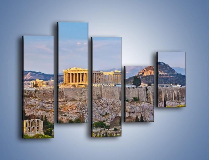Obraz na płótnie – Ateńskie ruiny – pięcioczęściowy AM162W4