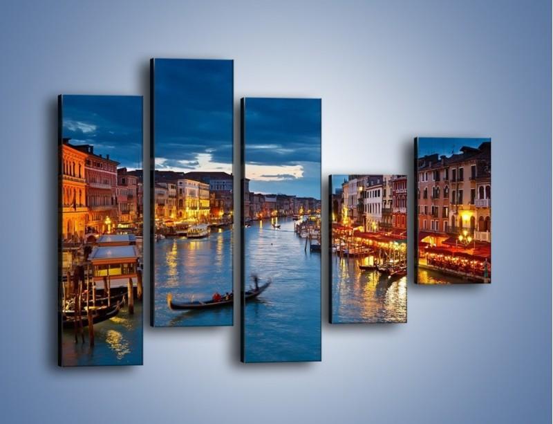 Obraz na płótnie – Wenecja romantyczną porą – pięcioczęściowy AM163W4