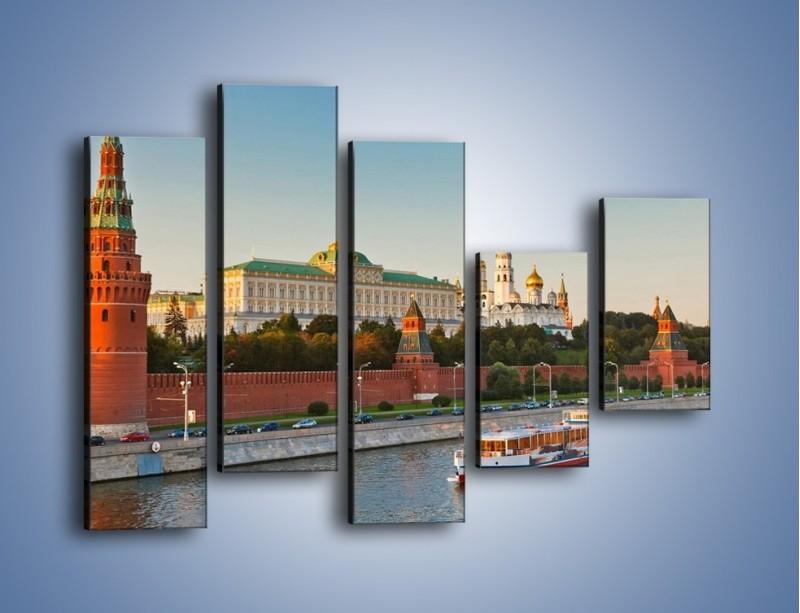Obraz na płótnie – Kreml w środku lata – pięcioczęściowy AM164W4