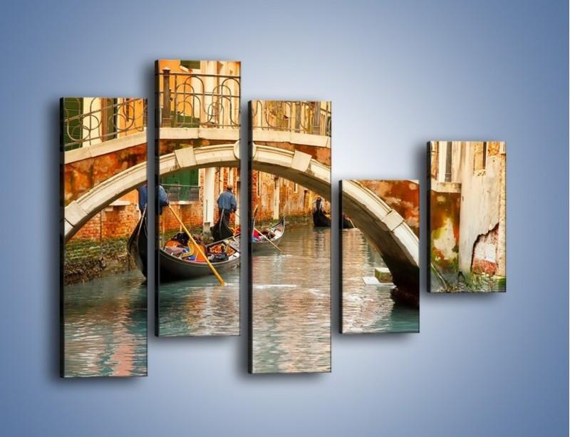 Obraz na płótnie – Weneckie gondole – pięcioczęściowy AM172W4