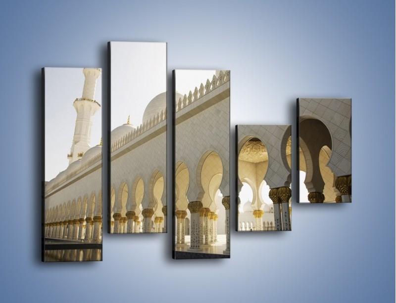 Obraz na płótnie – Bliskowschodnia architektura – pięcioczęściowy AM177W4