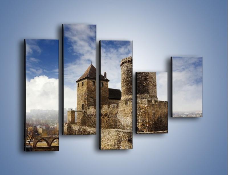 Obraz na płótnie – Średniowieczna fortyfikacja – pięcioczęściowy AM201W4