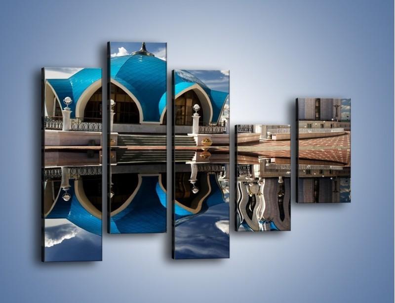 Obraz na płótnie – Meczet w odbiciu wody – pięcioczęściowy AM230W4